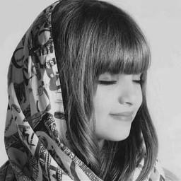 moslema islamic babygirl hejab blackandwhite