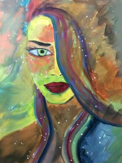acrylicpainting painting art drawing girl