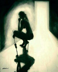 mypainting drawing myart woman light