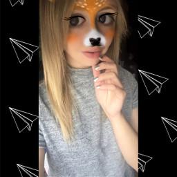 selfie me deerfilter snapchat girl