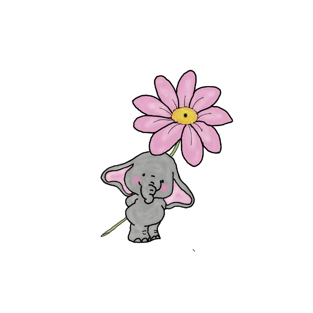 #mydrawing #drawing #cuteness  #elephant  #flower #freetoedit  @pa thanks for featuring my drawing in Dreamy Drawings  🐘 Web ref used