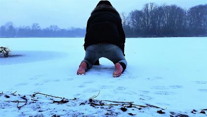 freetoedit wintertime barefoot frost frozenlake