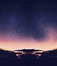 freetoedit stars mountains blue purple