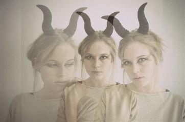 fantasy horns faun girl woman