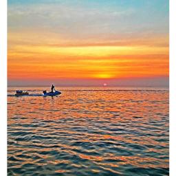 sunset thebeach thesea thesun sobeautiful