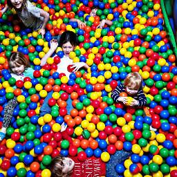 freetoedit kids kidsparty ballpit colors