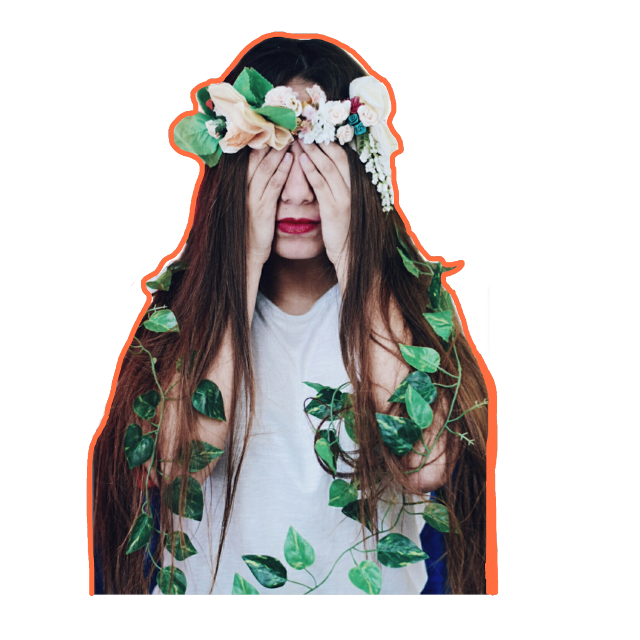 #FreeToEdit #girl #flowers #ftestickers