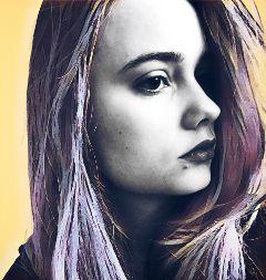 popart portrait girl