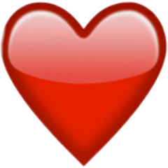 red emoji heart freetoedit