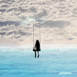 freetoedit dream clouds swing sea