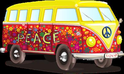 van colorful flowers transportation freetoedit
