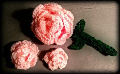 handcrafted handmade crocheted rose roses