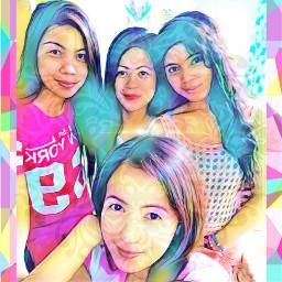freetoedit family#asian#pinay#filipino#filipina#colouful#modernart#editbyme#like#vibrant family asian pinay