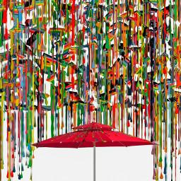 umbrella modern_art colorful illustration paint